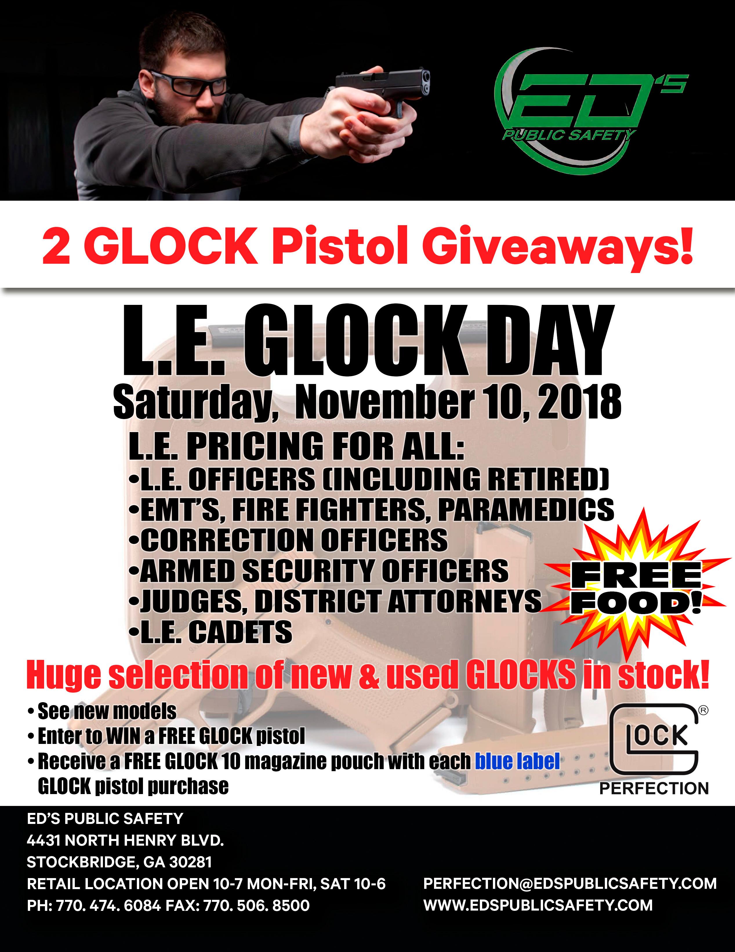 Glock Day - Saturday, November 10